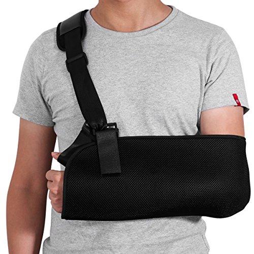 Healifty Arm Sling Inmovilizador de hombro ajustable Codo de apoyo de  muñeca para huesos fracturados y 243ad72375f6