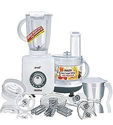 Inalsa Craze 700 watt Food Processor (White/Grey)
