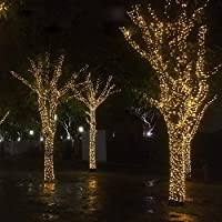 Christmas Bright Yellow Light Xmas Tree Lamps 50 Meters Party Room Decor out Door Decoration LED String Fairy Lights 400 LED lights