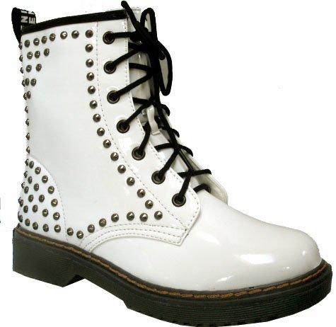 Clouté Bottines à Air Step Semelles - 4 coloris disponibles Blanc - White Gloss