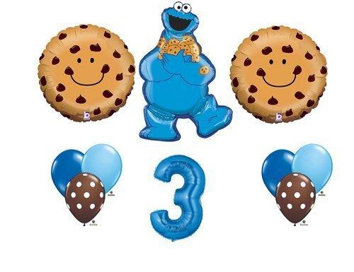 d Third Happy Birthday Balloon Party Set Sesame Street by Anagram (English Manual) (Cookie Monster Dekorationen)