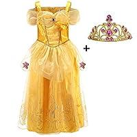 """LiUiMiY Bambine Principessa Gonna Abito di Gala Ragazze Cosplay Costume Tulle Vestito Materiale: PoliestereDimensioni:  2-3 anni: Busto: 56cm / 22"""", lunghezza: 64cm / 25.2"""" 3-4 anni: Busto: 58cm / 22.8"""", Durata: 66cm / 26"""" 4-5 anni: Busto: 60..."""