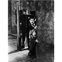 Póster 30 x 40 cm: Tom Wilson, Charles Chaplin and Jackie Coogan in The Kid de Everett Collection - impresión artística póster artístico