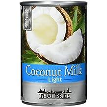 Thai Pride Kokosnussmilch light, Fettgehalt: circa 6 %, 6er Pack (6 x 400 ml)