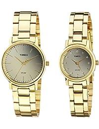Timex Classics Analog Gold Dial Pair Watch - TW00PR196