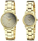 Timex Classics Analog Gold Dial Watch Set's Watch-TW00PR196