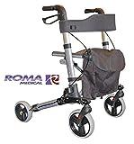 Roma Walker deambulatore PIEGHEVOLE con 4 City leggero sostegno alla camminata carrello di sostegno ruota