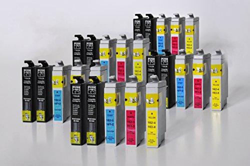 Preisvergleich Produktbild T1601-T1604 / 16XL Printing Saver 25 Tintenpatronen kompatibel für EPSON Workforce WF-2010W, WF-2510WF, WF-2520NF, WF-2530WF, WF-2540W, WF-2630WF, WF-2650DWF, WF-2660DWF, WF-2630WF, WF-2650DWF, WF-2660DWF Plus drucker