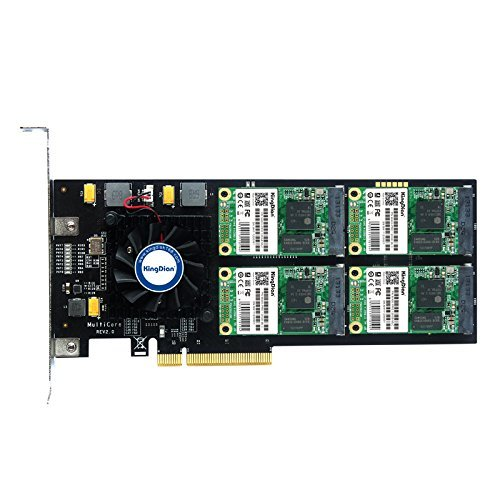 kingdian RAID 500GB SSD PCI-Express 2.0interne Solid State Drive für High-End Video & Video Capture & Server -
