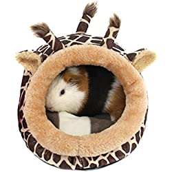 Winterworm - Cama de peluche suave para mascotas con almohadilla extraíble para hámster, erizo, cobaya, cerdo, gato de bebé