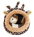 Winterworm - Cuccia in peluche, morbida, con cuscinetto rimovibile, per criceti/ricci/porcellini d'India/gattini
