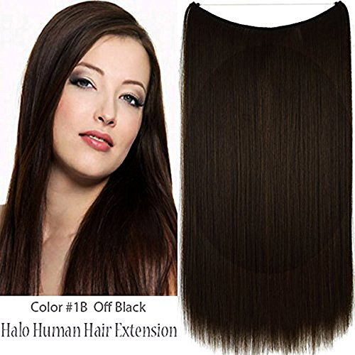 Remeehi Haarverlängerung, 45,7 cm, 1# jet black