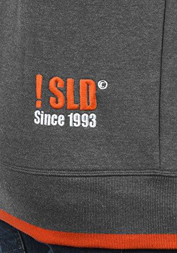 SOLID BenjaminHood Herren Kapuzenpullover Hoodie Sweatshirt mit optionalem Teddy-Futter aus hochwertiger Baumwollmischung Meliert Grey mit Teddy-Futter