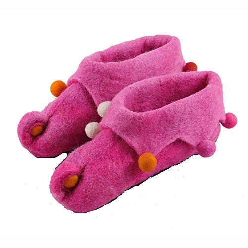 musimon Hausschuhe Kinder Filz 100% Schafwolle pink Pink