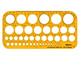 Aristo AR5333 Kreisschablone mit Tuschenoppen, 45 Kreise, 1-36 mm, klar/gelb