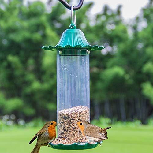 JXXDDQ Mangeoire pour Oiseaux pittoresque, Mini-Jardin extérieur en Plein air, matériau pour Abreuvoir en métal (Couleur : Green)