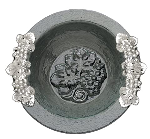Arthur Court Grape Glass and Metal Salad Bowl, 16-Inch by Arthur Court Designs