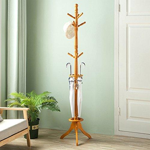 SKC Lighting-Porte-manteau Européenne solide bois manteau Rack vêtements Rail coin cintre étage Chambre Creative cintres (Couleur : Le jaune)