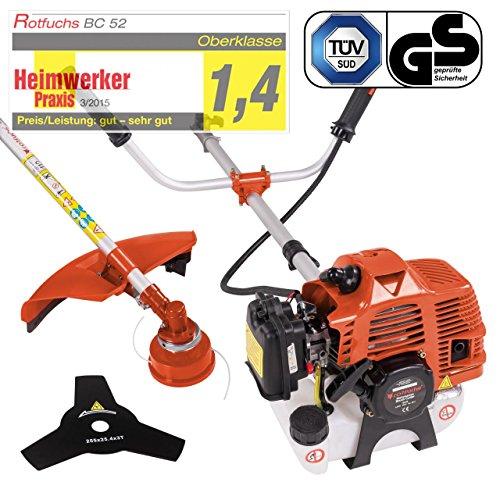 Motorsense Freischneider Rasentrimmer Rasenmäher 3 PS und 52cm³ Orange - 2