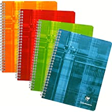 Clairefontaine 8761C - A spiral notebook 17x22cm 180 pages large tiles - random color
