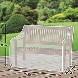 Premium Schutzhülle für Gartenbank/Landhausbank aus Polyester Oxford 600D - lichtgrau - von 'mehr Garten' - für 2-Sitzer