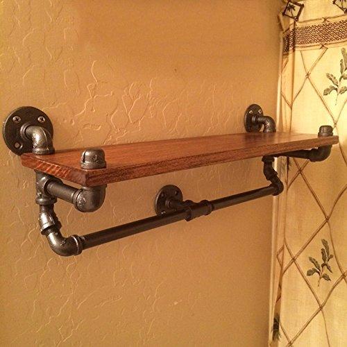 GYP Porte-serviettes, étagères de salle de bain Porte-étagères Étagère en bois massif Étagère en fourrure Salle de bains Électrique Vent Retro 64 * 20 * 25cm acheter ( taille : 64*20*25cm )