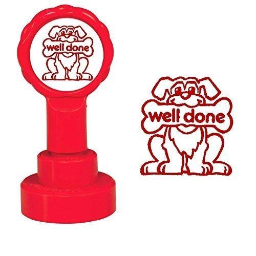 Lehrer Auszeichnung Briefmarken Pre eingefärbt 25,000 Eindrücke - Red Well Done - 25000 Leben