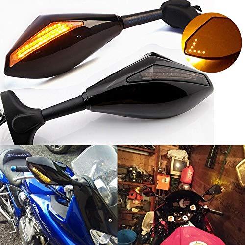 Preisvergleich Produktbild Motorrad Rückspiegel mit LED Blinker für Honda CBF 1000 2006-2010,  CBR1000RR,  CBR600F 2 / 3 / 4i,  CBR900RR,  CBR929RR,  CBR954RR