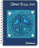 James Rizzi - Buchkalender Deluxe 2020 - Kalenderbuch A5 - Taschenkalender - teNeues-Verlag - National Geografic - Taschenplaner mit Spiralbindung - 16,5 cm x 21,6 cm - Kunstkalender
