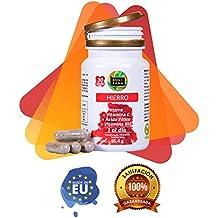 Hierro con ácido fólico y vitamina C para mejorar la energía y ayudar a prevenir la