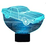 3D Lampe USB Power 7 Farben Amazing Optical Illusion 3D wachsen LED Lampe Auto Formen Kinder Schlafzimmer Nacht Licht