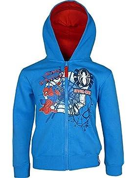Niños Marvel Spiderman Cremallera Entera sudadera con capucha Azul