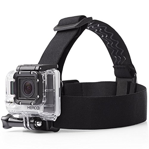 Mobilegear Versatile Head Strap Mount with Adjustable Belt for Yi, SJCAM & GoPro HD Hero Motion Cameras