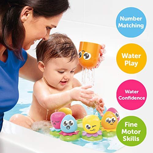 """TOMY Wasserspiel für Kinder """"Okto Plantschis"""" mehrfarbig – hochwertiges Kleinkindspielzeug – Spielzeug für die Badewanne – ab 12 Monate - 2"""