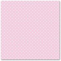 Quadrato di feltro stampato con pois 1 mm 30x30 cm Rosa chiaro/Bianco - Feltro Bianco