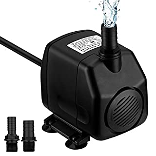 VICTSING 920GPH (3500L/H) Fountain Water Pump 60W Submersible Pump For Aquarium, Fish Tank, Pond, Hydroponics with 4.5ft (1.4M) Power Cord
