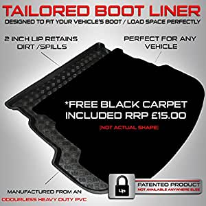 Toyota RAV4 (2013 Onwards) Boot Liner Mat Tray with FREE Velour Insert worth ...