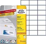 Avery Zweckform 3652-10 Etiketten (A4, Papier matt, 210 Stück, 70 x 42,3 mm) 10 Blatt weiß