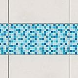 Fliesen Bordüre - Mosaikfliesen Meeresrauschen 30cm x 60cm, Setgröße:1teilig