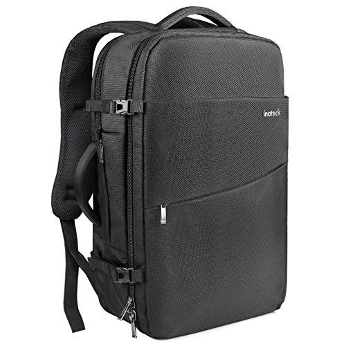 Inateck Supergroßer Laptop Rucksack für 15-15,6 Zoll Notebooks, Laptops, Backpack mit Diebstahlsicherung, Rucksack für Herren,Frauen und Studenten- Schwarz