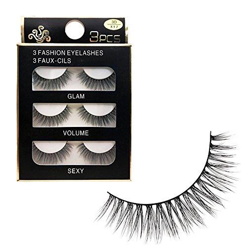 wyxhkj faux cils Real 3D doux longs yeux naturels cils maquillage épais extension de faux cils (F)