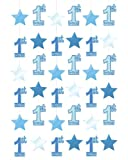 Amscan International First Birthday Boy Hanging String Decorations, Pack of 6