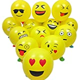 Party Globos de Látex, Ularma 20 PCS Smiley Emoji Balloon Perfect Decoraciones para fiestas de cumpleaños Decoración navideña