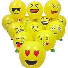 Party Globos de Látex, Ularma 20 PCS Smiley Emoji Balloon Perfect Decoraciones para fiestas de cumpleaños Decoración navideña