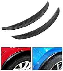 Auto Surfer Mud Guard Carbon Fiber Style Fender Flare Wheel Lip Body Flap (Set of 2) For Cars