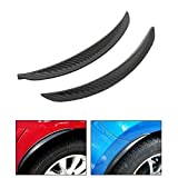 #7: Auto Surfer Mud Guard Carbon Fiber Style Fender Flare Wheel Lip Body Flap (Set of 2) For Cars