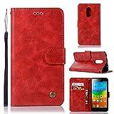 Casefirst Lenovo K6 Note Case, Lenovo K6 Note Cover Thin Flip Cover Case Protective Phone case Phone Case for Lenovo K6 Note by (Red)