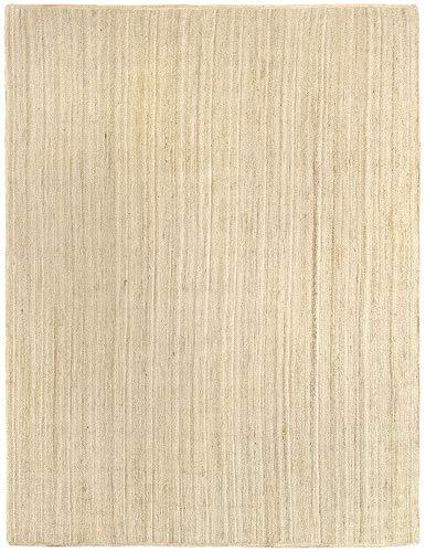 HAMID Alfombra Yute Alhambra Color Semi Blanco - Alfombra