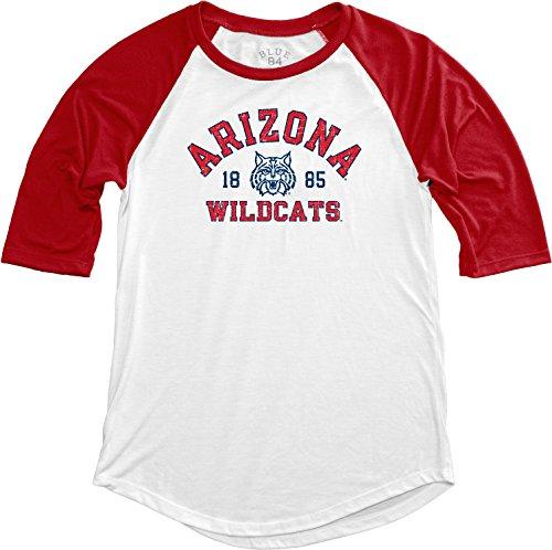 Blue 84 NCAA Arizona Wildcats NCAA Damen Baseball-T-Shirt, Größe S, Rot