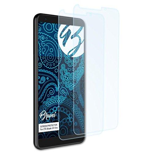 Bruni Schutzfolie für ZTE Blade V9 Vita Folie, glasklare Bildschirmschutzfolie (2X)